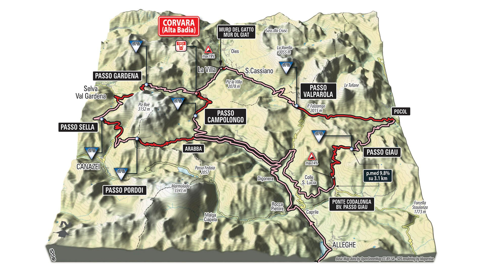 Giro dItalia in Alta Badia Corvara 21 may 2016